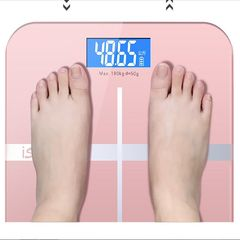 Body Weight Scale Precision household weighing machine Bathroom Scales LED Backlight PINK as picture