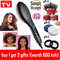 Straight Hair Straightener Comb Digital Electric Straightening Hair Dryer Brush as picture 27.5cm*7cm*4cm