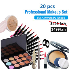 5th Anniversary 20 pcs Women Value Pack Makeup Set Gift Gel Eyeliner Eye Liner Pen Eyebrow Pencil as picture