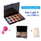 4PCS Makeup Set 15 Colors Concealer Contour Palette Makeup Brush Sponge Brush Wash Egg as picture