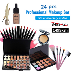 24 pcs Women Value Pack Makeup Set Gift Gel Eyeliner Eye Liner Pen Eyebrow Pencil as picture