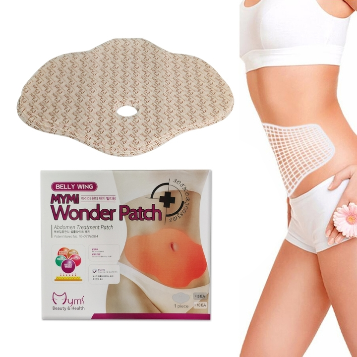 10Pcs MYMI Wonder Slimming Patch Belly Abdomen Weight Loss Fat Burning Cream as picture
