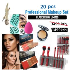 22 pcs Women Value Pack Makeup Set Gift Gel Eyeliner Eye Liner Pen Eyebrow Pencil as picture