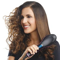 2020 Fashion  Gift Straight Hair Straightener Comb Digital Hair Dryer Brush as picture 27.5cm*7cm*4cm
