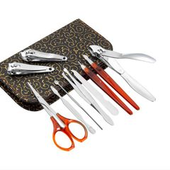 Manicure Nail Clipper Set Household Stainless Steel Ear Spoon Nail Clippers Manicure Tool white as picture