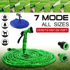 50FT Garden Hose Expandable Flexible Water Hose Pipe Watering With Spray Gun To Watering Car Wash Green 50FT