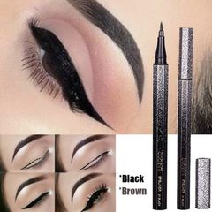 Valentine Gifts Starry Diamond Shinny Eyeliner Water Black Quick-drying  Liquid Eye Liner Pencil as picture