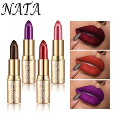 Valentine Gifts Lipstick Waterproof Long Lasting Lipstick Pencil Red Lip Stick Makeup Cosmetics as picture AS PICTURE