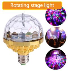 Colorful Rotating Stage Light Party Disco DJ Colorful Rotating Blending LED Light Bulb Party Lights as pic as picture 6W