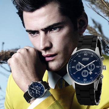 SKMEI Watch Sports Watch 30M Waterproof  Watches, Silver