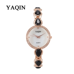 YAQIN Watch Ladies Quartz Watches with Diamond Black