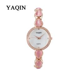 YAQIN Watch Ladies Quartz Watches with Diamond Pink