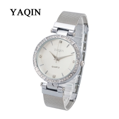YAQIN Watch Elegance Fashion Quartz Watches for Women Silvery
