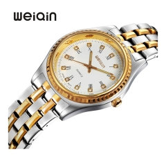 WEIQIN Watch Elegance Fashion Quartz Watches for Men Gold & White