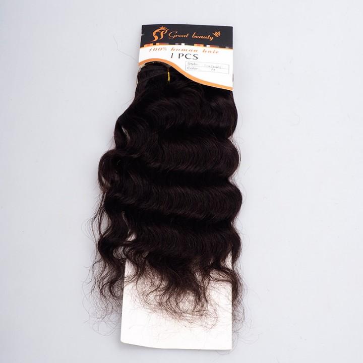 NEW GREAT BEAUTY DEEP HUMAN HAIR 1PCS 14 inch