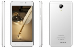 Bundy Access 5+ Dual Sim, Camera 2.0mp rear,2.0mp front,8GB +512RAM, 5.0 Smartphone White