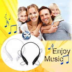 Universal Wireless Bluetooth 4.0 Stereo Handsfree Headset Earphone Controls Music Playback black
