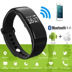 IP-68 Waterproof Smart Watch Bluetooth Smartwatch Sport Wristband Bracelet Band Heart Rate Smartband black Smart Watch