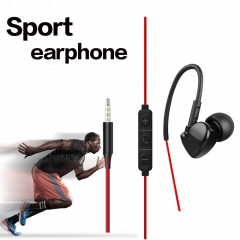 Sport Earphones Super Bass Hifi Running Earbuds Stereo Earpod With For iPhone4 5 6 Samsung MP3 MP4 red