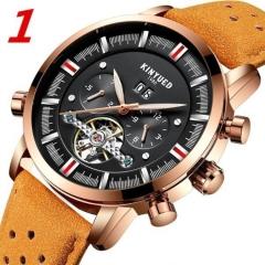 Mechanical Watches Luxury Perpetual Tourbillon Automatic Watch Men Skeleton Calendar brown&black 42mm