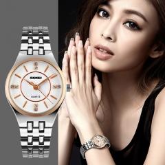 Women Quartz Watches Fashion Casual Dress Stainless Steel Ladies Watch Waterproof Wristwatches Gold