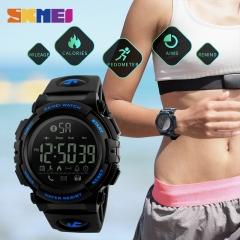 Smart Watch Pedometer Waterproof Sports Watches Remote Camera Call Reminder Bluetooth Wristwatches blue 50mm