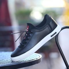 Korean fashion shoes men's low shoes men's casual shoes black 44