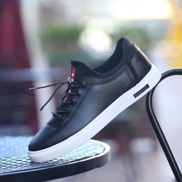 Korean fashion shoes men's low shoes men's casual shoes black 44