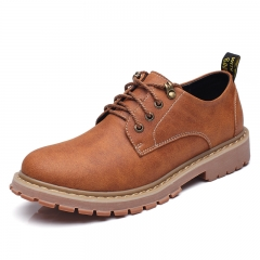 Mens Outdoor Casual Leather Shoes High Quality Work Safety Shoes Brown Lace Up Shoes Size 38~44 brown 38