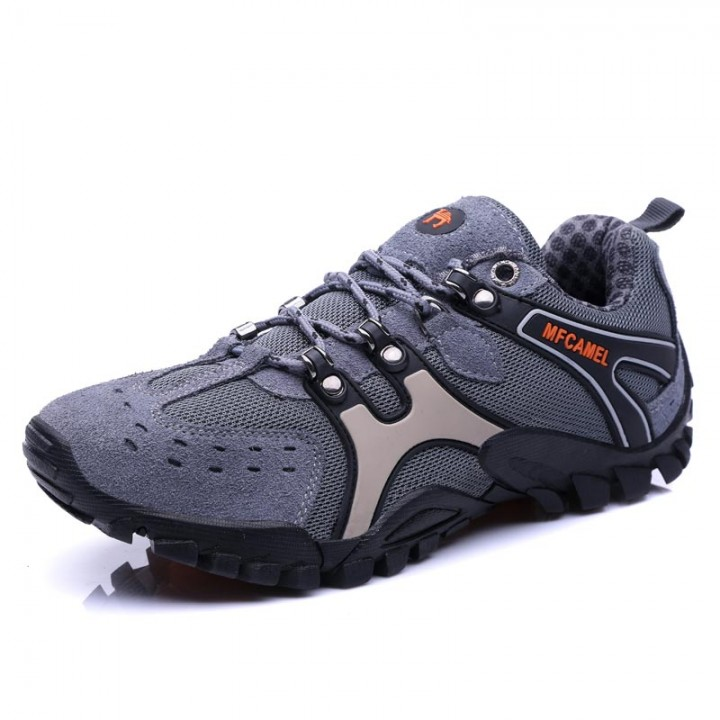 Men's Outdoor Casual Shoes Trekking Sneakers Non-slip Hiking Boots Climbing Shoes Size 39~44 grey 43