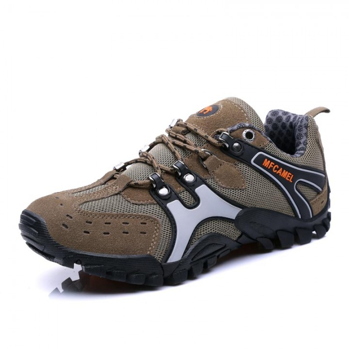 Men's Outdoor Casual Shoes Trekking Sneakers Non-slip Hiking Boots Climbing Shoes Size 39~44 brown 40