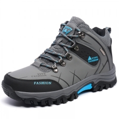 Men Boots Hike Non-Slip Men Climbing Outdoor Breathable Mountain Trial Trekking Shoes Waterproof grey 45