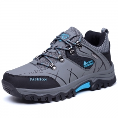 Men Ankle Boots Hike Non-Slip Climbing Outdoor Breathable Mountain Trial Trekking Shoes Waterproof grey 39