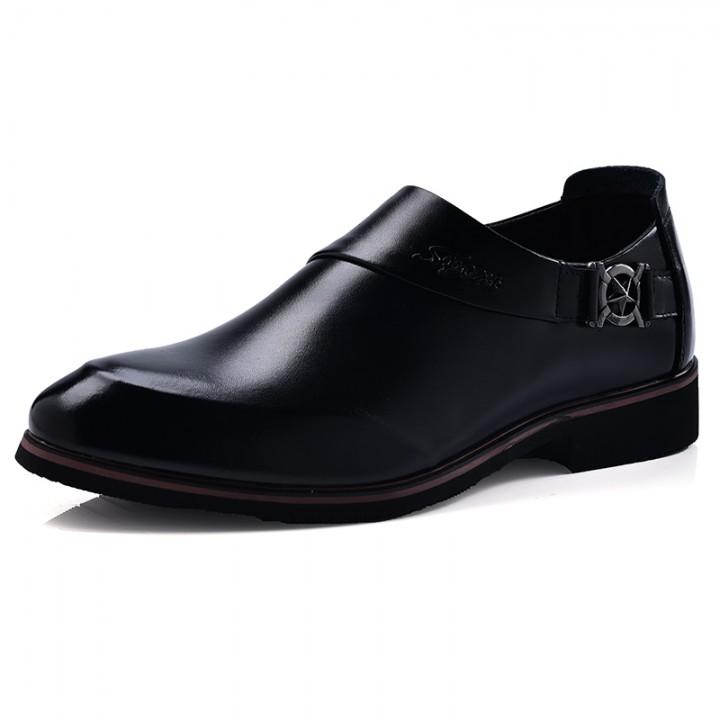 Men's Shoes Fashion Oxfords Business Shoes Casual Design Pointed Toe Dress Shoe black 41