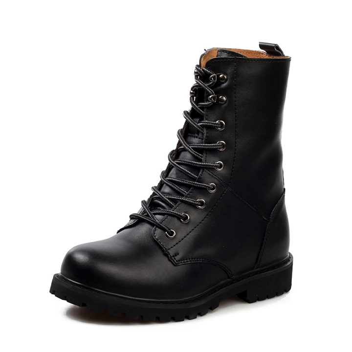 Men's Boots Work & Safety Boots Plus Size 48 Snow Boots Leather Shoes Fashion Half Boot black 43