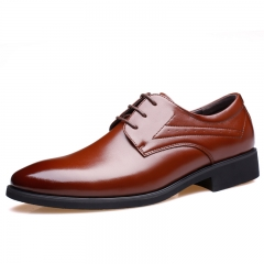 Men's Oxfords Fashion Business Shoes Lace Up Dress Shoes Brown Casual Shoes Breathable brown 39