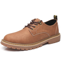 Men's Shoes Fashion Martens Antique British Casual Shoes Perfect Safety Shoes Comfortable brown 39 PU