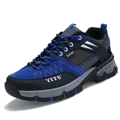 Men's Sports Sneakers Hike Non-Slip Climbing Outdoor Shoes Breathable Mountain Trial Trekking Shoes blue 39