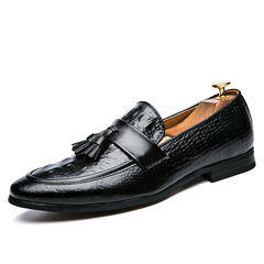 Mens Fashion Business Shoes Pointed Toe Shoes Oxfords Shoes Casual Leather Shoes Plus Size 47 black 39 clow split leather