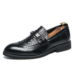 Mens Fashion Loafers Slip On Casual Shoes Oxfords Shoes Antiques Business Shoes black 39