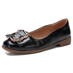 Lady's And Women's Fashion Casual Shoes Heels Breathable Leather Shoes Slip On black 35