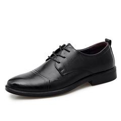 Mens Fashion Business Shoes Office Shoes Casual Leather Shoes Brown Dress Shoes Oxfords black 39 microfiber leather