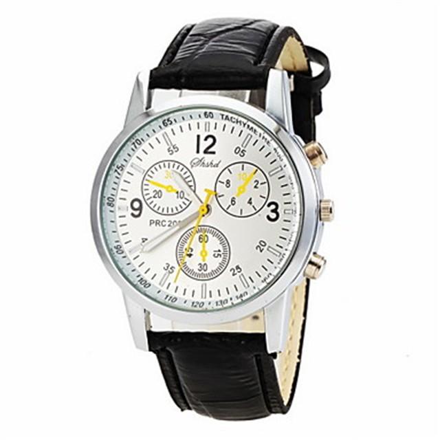 Men's Watch Dress Watch Elegant Style Quartz Wrist Watch Black/