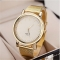 Women's Watch Fashionable Golden Case Alloy Band Golden