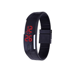 Women's Watch Unisex Men's Digital Bracelet Sport Watch black