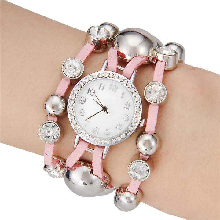Women's Small Bell Round Dial Watch pink
