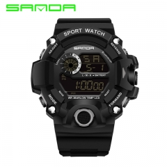 Men Digital Watches LED Waterproof Sports black