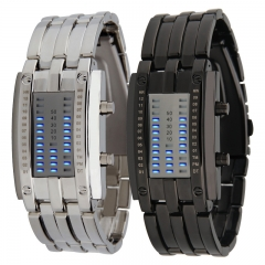 Fashion Cool army stel men led watches Lava silver