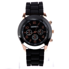 Watch Fashion Jelly Watch Wrap Quartz Casual Watch black