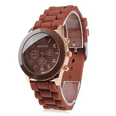 Watch Fashion Jelly Watch Wrap Quartz Casual Watch brown